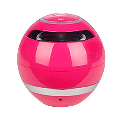 Yst-175 Multicolored Ball With Light Wireless Speaker Outdoor Card Subwoofer Pink