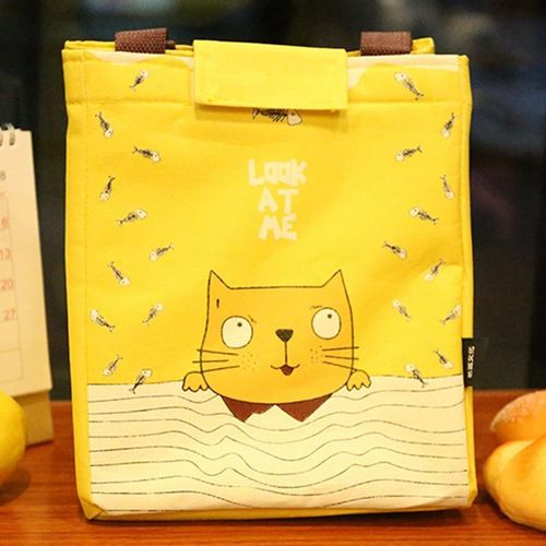 Eleganya Lovely Cartoon Pattern Portable Simple Insulated Lunch Bag