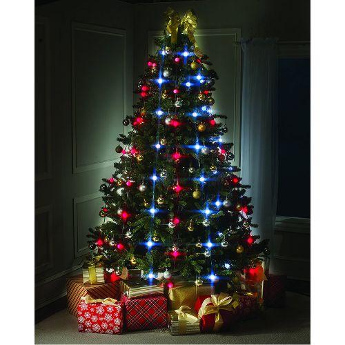 LED String Lights Bulbs Star Shower Festive Christmas Tree