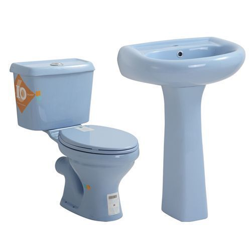 Blue Complete Couple Of Water Closet