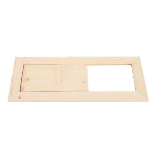 Air Vent Grille Cover,Wooden Rectangle Air Vent Grille Ventilation Steam Room Accessory