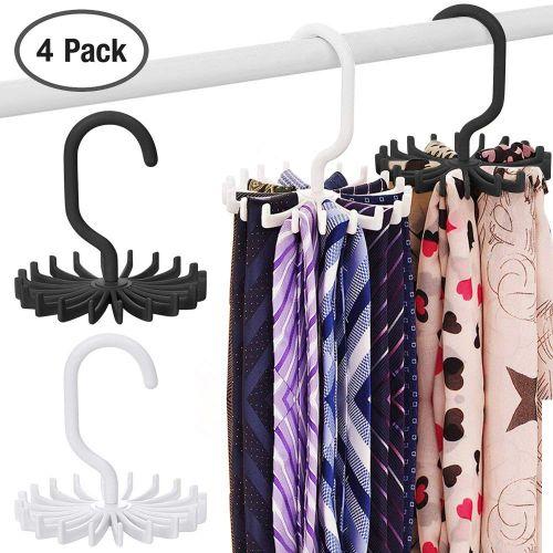 Tie Scarf Belt Organiser Plastic Necktie Rack Muffler Hanger Storage Hook