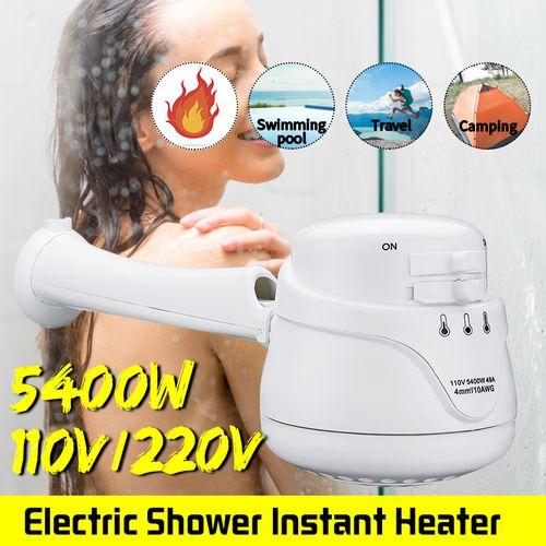 Mini Electric Instant Hot Water Heater Shower Head 5.4KW W/Bracket Bathroom 220V
