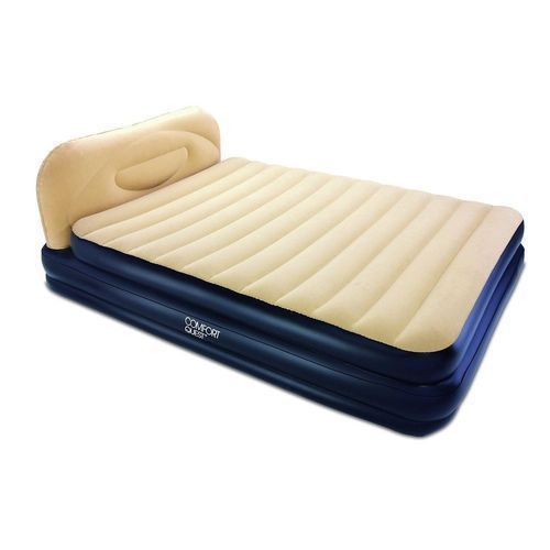 Comfort Soft Back Elevated Queen Airbed - Built In Pump