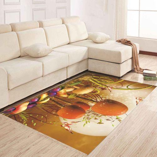 Small Mushroom Patterned Floor Mat Sitting Room Carpet