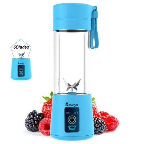 6 Blades Portable Juicer - Rechargeable Fruits Blender Mixer