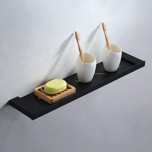 Modern Stainless Steel Solid Black Wall Mounted Bathroom Shower Shelf Storage