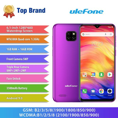 """Note 7 Triple Rear Camera 6.1"""" 1GB RAM 16GB ROM Quad Core 3G Smartphone Other Area Verion"""