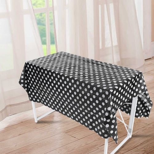 4 Types Disposable Oilproof Waterproof Plastic Tablecloths Table Cover For Dining Birthday