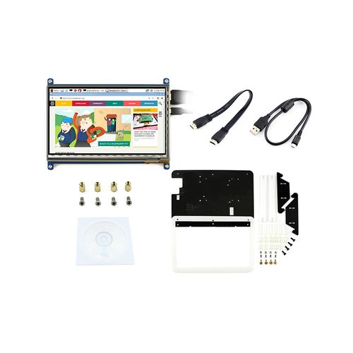 7 Inch Capacitive Touch Screen LCD(B) HDMI 800*480 With Bicolor Bracket Case For Raspberry Pi/BB BLACK/PC/Various Systems/Raspberry Pi 3 Model B