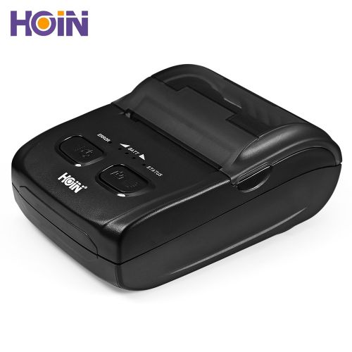 HOIN HOP - H200 Portable Thermal Printer USB Bluetooth Mobile Receipt Ticket Printing Rechargeable Device - BLACK