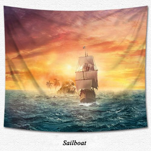 4FTx4.9FT 6 Types Background Cloth Tapestry Picnic Mat Wall Decoration
