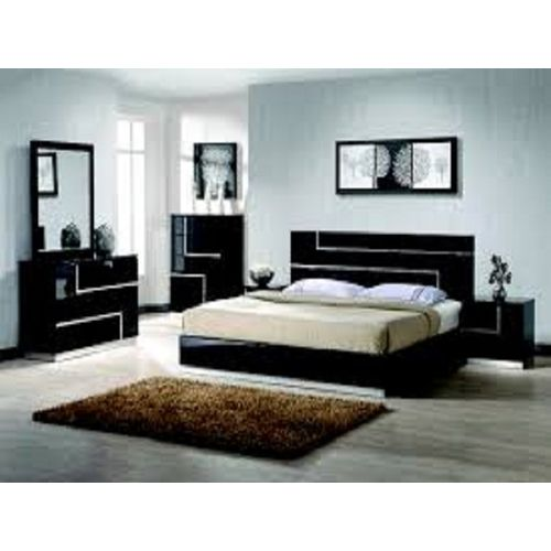 Casey Convenional Modern Bed Set, Bedframe (6 By 7)bedside Tables, Mirror Dresser And Console Table Drawers