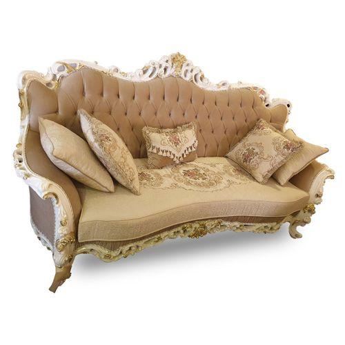 Classic Brown Fabric Sofa Set