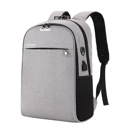 17 Inches Anti Theft Waterproof Laptop Backpack - Grey