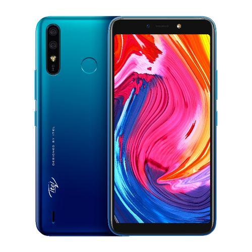 "A56 Pro 5.99"" Screen, Android 9, 32GB ROM + 2GB RAM, 8MP+5MP Camera, 4000mAh, Fingerprint & Face ID - Blue + Free Case"