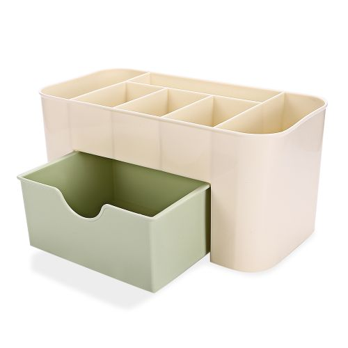 Plastic Desktop Cosmetic Storage Box Container With Drawer
