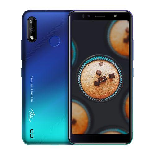 "A36 5.5"" HD+ Screen, 1GB RAM + 16GB ROM, Android 9 Pie, 3020mAh Battery, 5MP + 5MP Camera, Fingerprint + Face ID - Blue"