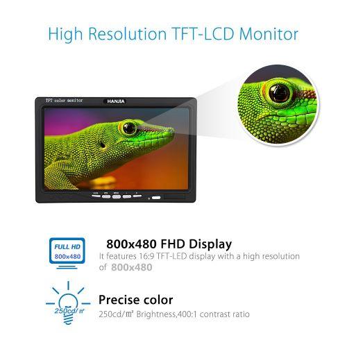 Portable 7Inch IPS Display 800x600 Color Monitor With Hdmi/VGA/AV