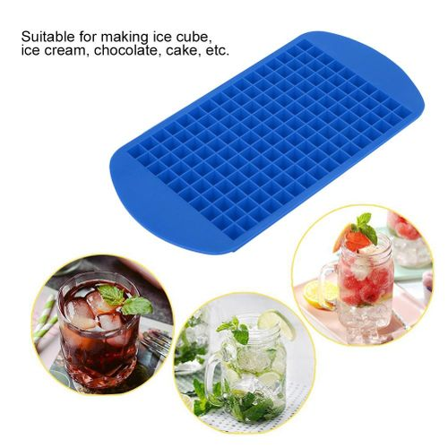 160 Slots Silicone Ice Cube DIY Creative Food Grade Ice Cream Making Mold Reusable Square Ice Ball Maker Mold Black Red