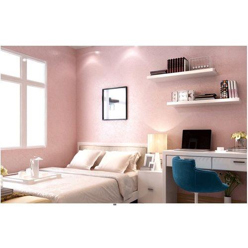 Modern Simple Non-woven Silk Wallpaper (5 M) - Pink