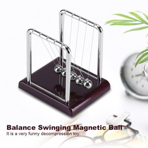 Steel Balance Swinging Magnetic Ball Cradle Physics Science Pendulum Desk Fun Toy Gift