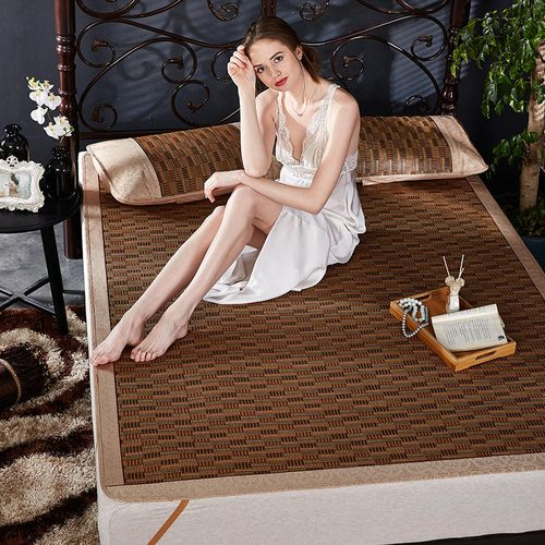 Summer Sleeping Thick Rattan Mat Three-piece Set Foldable
