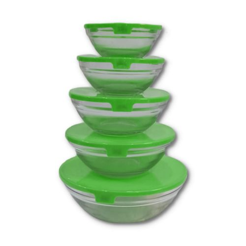 Microwave Glass Bowls(A Set Of 5 Different Sizes)