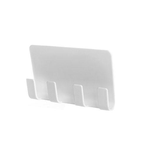 Wall Mount Mobile Phone Holder Socket Charging Box Bracket Stand White