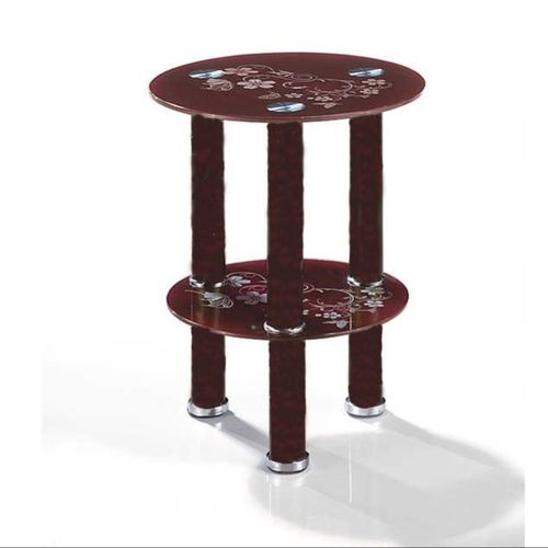 Tempered Glass Coffee Side Stool 03B