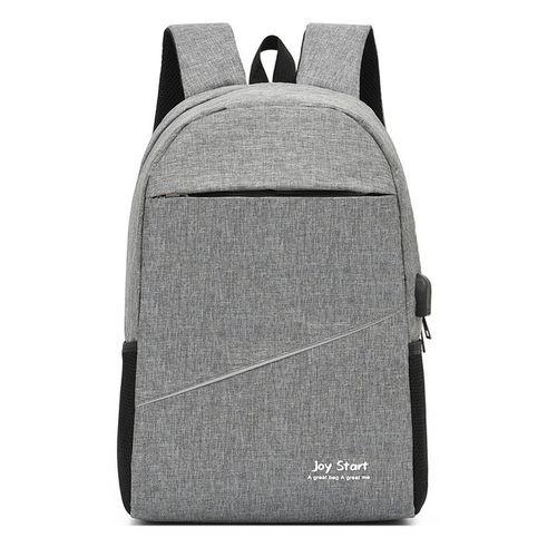 Anti Theft Travel Laptop Bag With USB Charging Port - Black