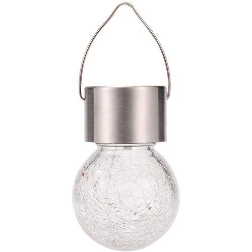 Solar Crack Glass Ball Light Color Change Hanging Lamp