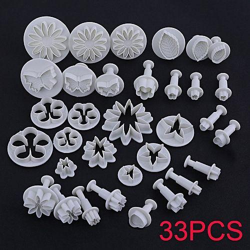 33PCS/SET Durable Cake Cookie Fondant Mould Mold Kitchen Baking Accessories