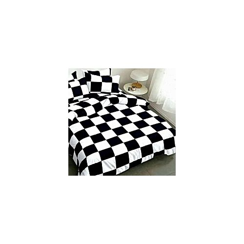 Bedsheet Or Duvet Set- Cube White /Black