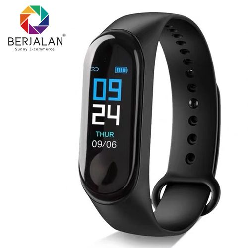 Color Screen Heart Rate Monitoring Bluetooth Smartwatch- Black