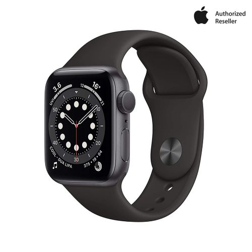 New Apple Watch Series 6 (GPS, 40mm) - Space Grey Aluminium Case With Black Sport Band