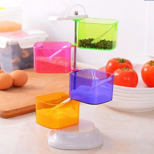 Rotating Spice Rack-Multicolor