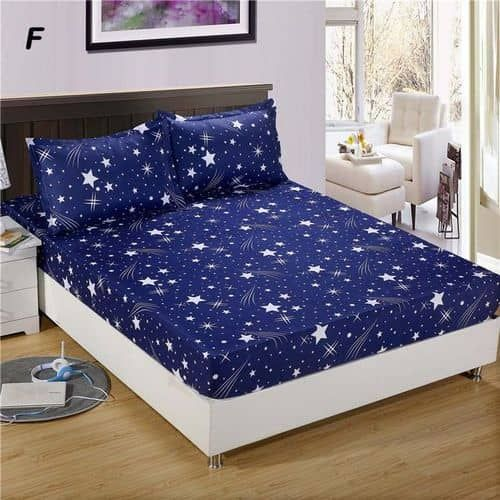 Blue Star - Bedsheet With Four Pillow Cases