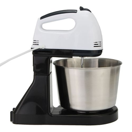 7 Speed Electric Beater Dough Cakes Bread Egg Stand Mixer Hand Blender Bowl Hook