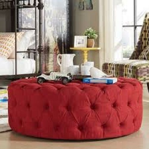Jeff Leather Tuffed Ottoman (DELIVERY IN LAGOS ONLY)