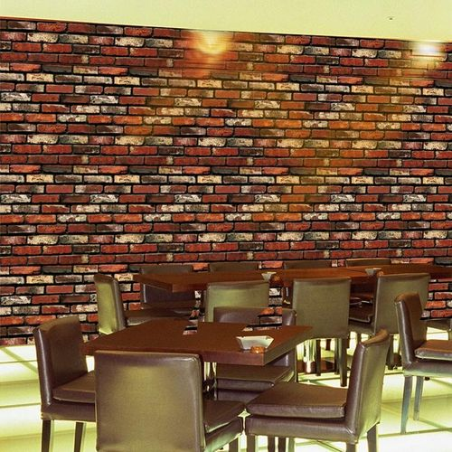 45x100cm Creative Wall Stickers Simulation Waterproof Brick 3D Effect PVC Removable Background Stickers Home Decor