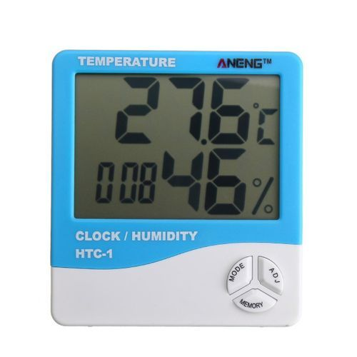 Electronic Temperature Humidity Meter Thermometer Hygrometer Weather Alarm Clock