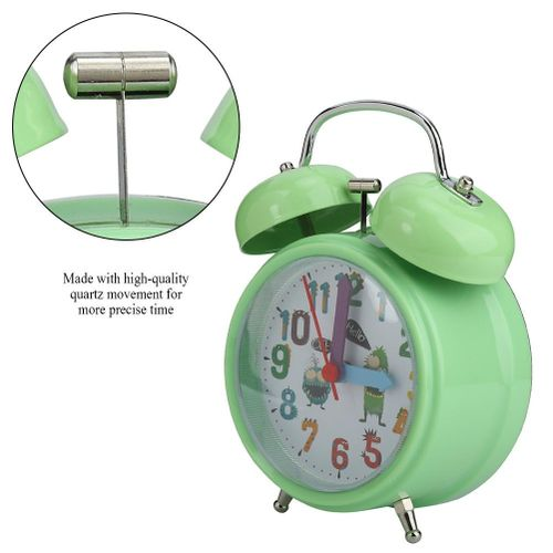 Child Alarm Clock Night Light Night Electronic Loud Multiple Sound Double Bell Clock For Bedroom Decoration Heavy Sleeper Gifts