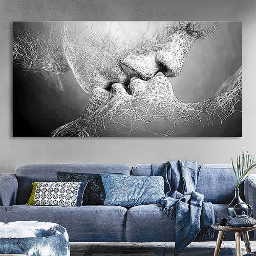 Householding Supplies Unframed Modern Art Oil Painting Print Canvas Picture Home Wall Room Decoration -Multicolor