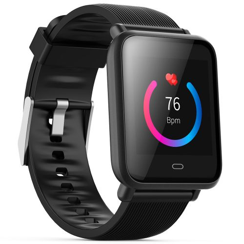 Q9 Colorful Screen Waterproof Sports Smart Watch For Android / IOS With Heart Rate Monitor -Black