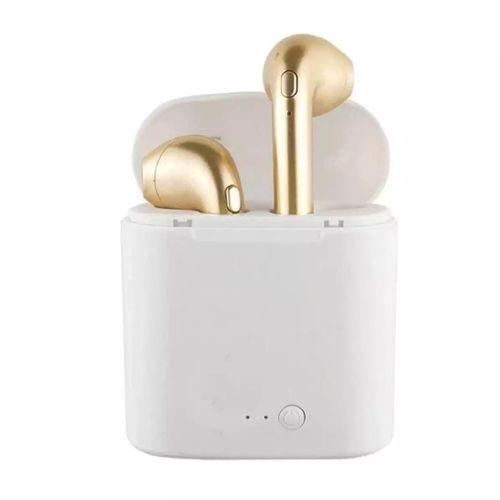 Bluetooth Earphone Headset Ear Air Pods Charging Box - Gold