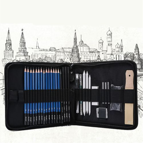 Sketch Pencil Pad Set For Professional And Amateur With Nylon Bag