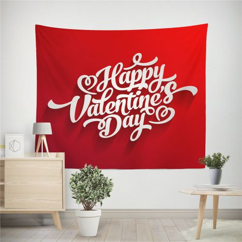 Dtrestocy Happy Valentine Tapestry Beach Cover Up Tunic Tapestry Tablecloth Home Decor