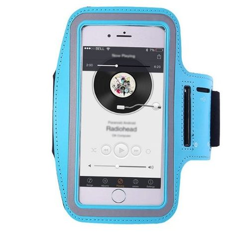 Running Riding Arm Band Cases Dirt-resistant Hand Bag Sport Mobile Phone Holder Pouch Belt Blue