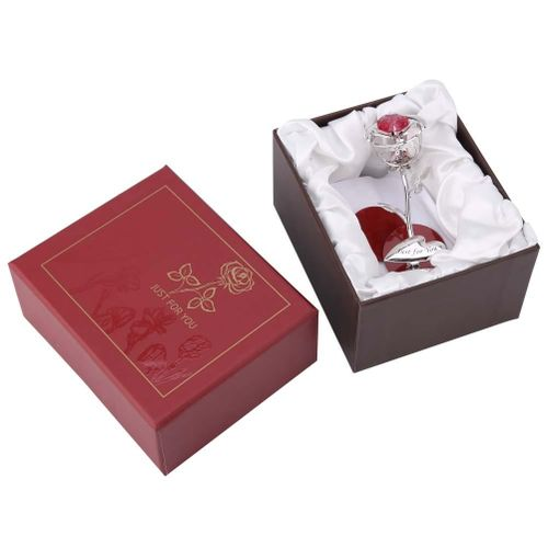 Girlfriend Wife Mother Gifts Alloy Immortal Metal Rose Flowers Ornament Craft Wedding Gift